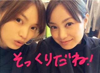 そっくりの双子の蛯原友里と英里.JPG